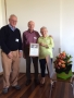 Presentation of Certificate of Life Membership to Ian and Jan Jonas