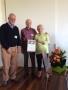 Presentation of Certificate of Life Membership to Ian and Jan Jonas