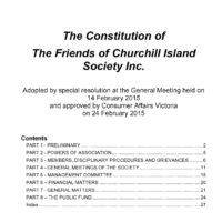 Revised Constitution Approved by Consumer Affairs Victoria