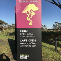 Photos - New Signs for Churchill Island