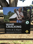 Whip Cracking Sign (Photo by Tom O'Dea)