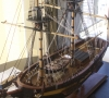 Model of the Lady Nelson by David Lumsden. Scale is 1:24. (Photo by David Maunders.)